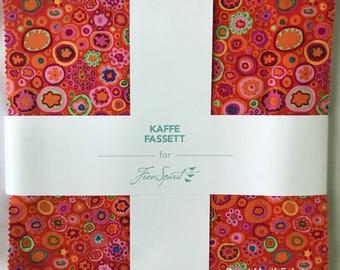 "Free Spirit - Kaffe Fassett Classics - Citrus 10"" Squares/Layer Cake - 42, 10"" x 10"" Precut Fabric Squares"