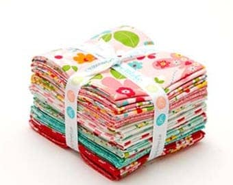 Riley Blake Garden Girl Fat Quarter Bundle by Melley &  Me - 18 Pieces