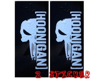 2 sticker hoonigan  decals viny for car and other