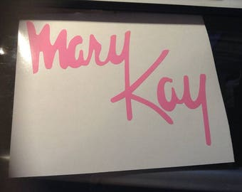 mary kay stiker vinyl decal