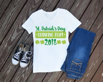 St Pattys Day Drinking 2018 Womens T-Shirt, St Patricks Day