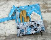 Zero waste kit, lunch box utensils, reusable straw, lunch time kit, travel utensil case, zero waste silverware, On the Go Kit, Bamboo fork