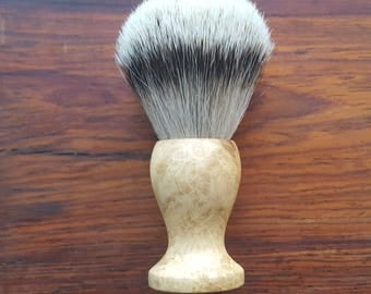 Black Locust Burl Silvertip Shaving Brush