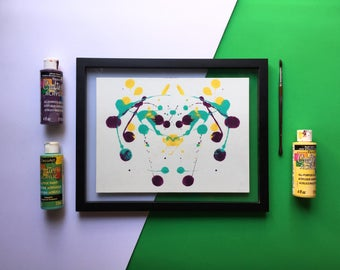 Gremlins-Print a handmade abstract painting to decorate your house.