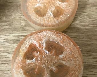 Loofah Soap | Orange Scent | Exfoliating Soap | Bar Soap | Jojoba Beads | Glow11