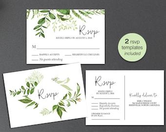 wedding rsvp postcard templates