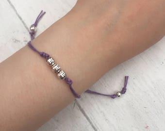 Purple Friendship  Bracelet.