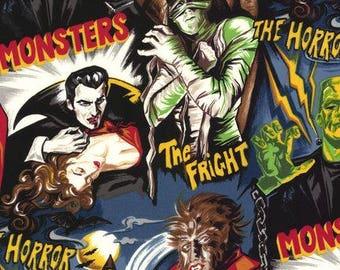 Robert Kaufman Movie Monsters Fabric Horror