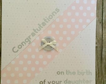 New baby card, congratuations, baby girl, baby boy, personalised, customised