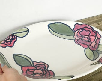 Large Oval Serving Platter: A Rose By Any Other Name