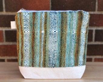 Knitting Project Bag Handwoven Handspun Merino Wool