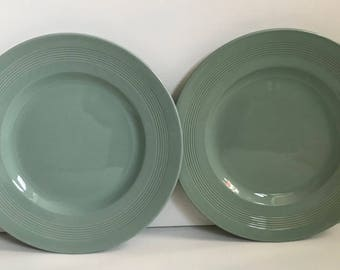 Two Woods Ware Beryl Plates 8.75 inches Diameter