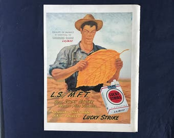 Lucky Strike Ad, Yes! Lucky Strike Means Fine Tobacco...