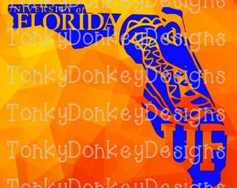 University of Florida Gators Digital Cut File (svg, studio3, dxf, eps, jpeg) for cutting machines (Silhouette, Cricut, Brother, etc.)