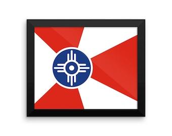 Wichita Flag Framed poster