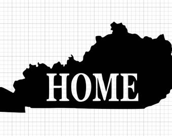 HOME Kentucky State Outline Decal Car Vinyl Decal