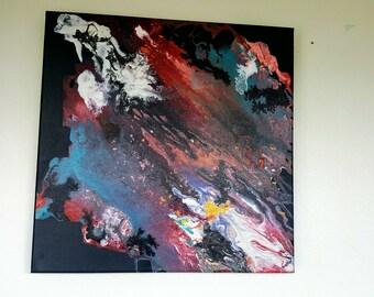 Art mixed media acrylic ink (THE NEBULA)