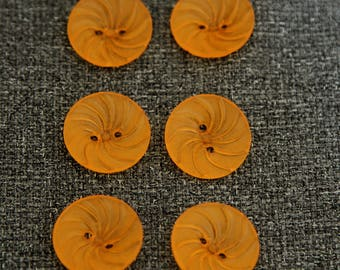 6 buttons curved Tangerine color