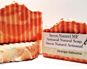 All Natural Handmade Soap, Orange-Satsuma