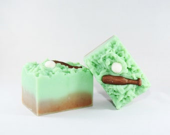Outfield   Handcrafted Artisan Soap   Baseball   Spring Collection   Grass   XL
