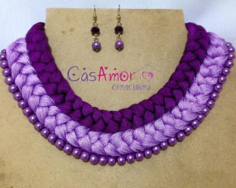 Handmade necklace braid