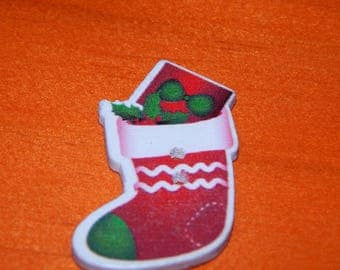 button Christmas sock