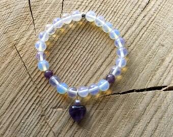Opalite & Amethyst bracelet