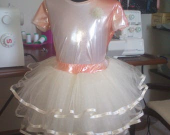 Set skirt tutu beige ,tulle for girls 10 years-140 size.