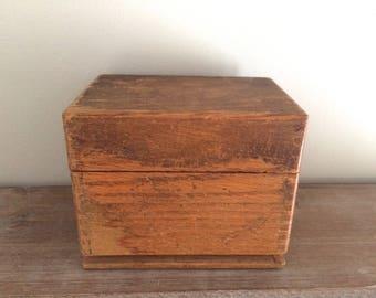 Vintage Wooden Dovetail Merchant's Box