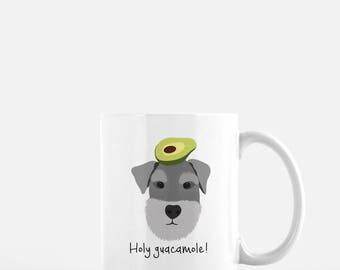 Personalized Schnauzer Mug, Schnauzer Coffee Mug, Schnauzer Mug, Dog Mug, Dog with Fruit Mug, Schnauzer Coffee Cup, Schnauzer Gift