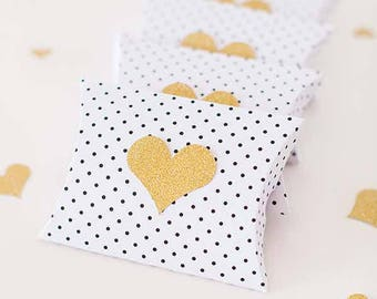 Heart favor pillow boxes, Wedding favor boxes, Heart favor boxes, engagement part pillow favor box