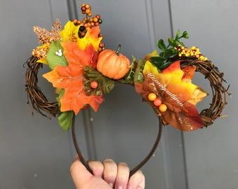 Vine Autumn Mickey Ears