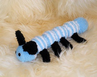 Caterpillar Stuffed Animal Hand Stitched Sock Critter  stuffy cuddly toy fuzzy stuffie lovies bugs, insect, spring, summer lovebug butterfly