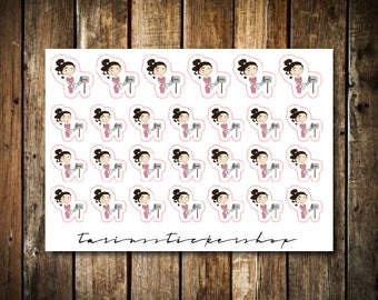 Mail - Cute Brunette Girl - Functional Character Stickers
