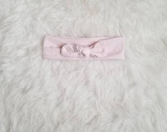 Striped top knot headband, top knot headband, baby girl headband, newborn knotted headband, baby girl bow