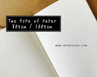 Dot Grid Standard Traveler's Notebook Insert, White Dot Notebook, TN Dot Grid Refill, Traveler's Journal, Bullet Journal, Planner Insert
