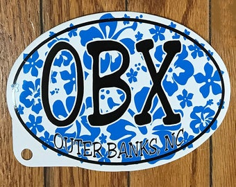 FreeShipping,OBXsticker,OuterBanksSticker,BlueHibiscusSticker,OBXHibiscus,OvalSticker,OuterBanksDecal,NorthCarolina,BlueHibiscus