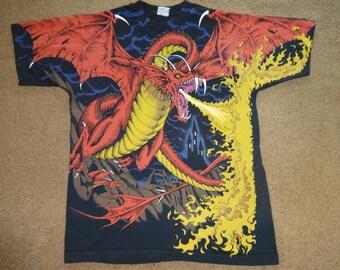 Vintage Liquid Blue Dragon shirt