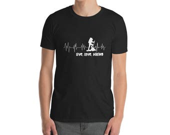 Hiking Heartbeat T-Shirt - Hiking shirt - Hiking tee - Hiking shirts - Hiking gift