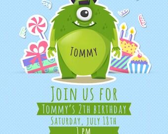 Custom birthday invitation - Monster Birthday Invitation Little Monster Invitation Monster Party Little Monster Party Invitations for Boy