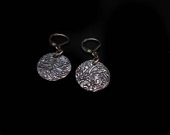 Earrings baroque steel