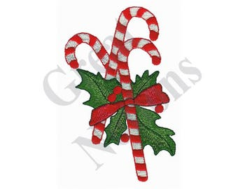 Candy Canes - Machine Embroidery Design