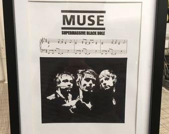 Muse music sheet art