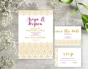 THE MARIGOLD - Wedding Invitation Suite