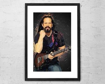 John Petrucci - Illustration - Dream Theater Art - Dream Theater Poster - Progressive Metal - Rock Poster - PRS Guitar - Guitar Player Gift