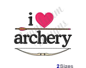 I Love Archery/Bow & Arrow - Machine Embroidery Design