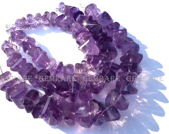 Amethyst Light Faceted Nuggets beads, Quality A+, 8.50 to 14 mm, 18 cm, 28 Pieces, AME-082/1, Semiprecious Gemstone beads, Craft Supplies