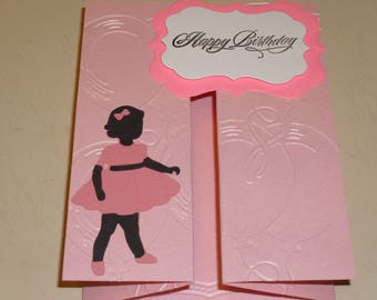 Happy Birthday Accordion Card For Little Girls