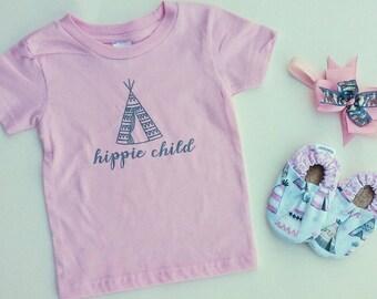 Hippie Child Shirt, Hippie Child Onesie, Hippie Child, Boho Shirt, Boho Onesie, Boho Baby, Boho Kids, Baby Girl Outfit, Baby Girl Shirt