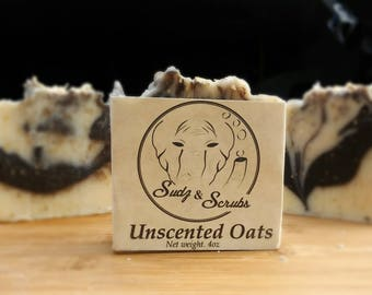 Unscented Oatmeal Soap Cold process Honey Handmade Soap Artisan Soap